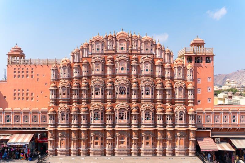 Jaipur/India-27 02 2019: Hawa Mahal - paleis in Jaipur royalty-vrije stock foto's