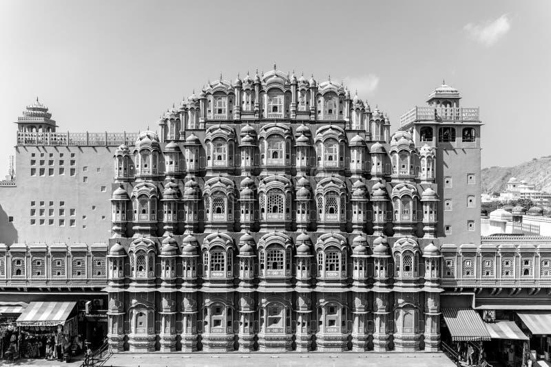 Jaipur/India-27 02 2019: Hawa Mahal - slott i Jaipur royaltyfria foton
