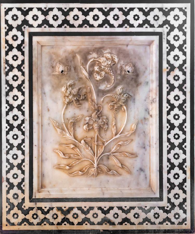 Free JAIPUR, INDIA - NOVEMBER 5, 2017: Wall Ornament In Amber Fort In Jaipur, India Stock Image - 132770541