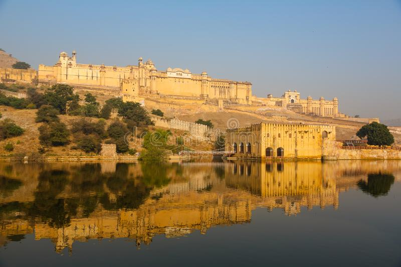 Amber Fort on the water royalty free stock photo