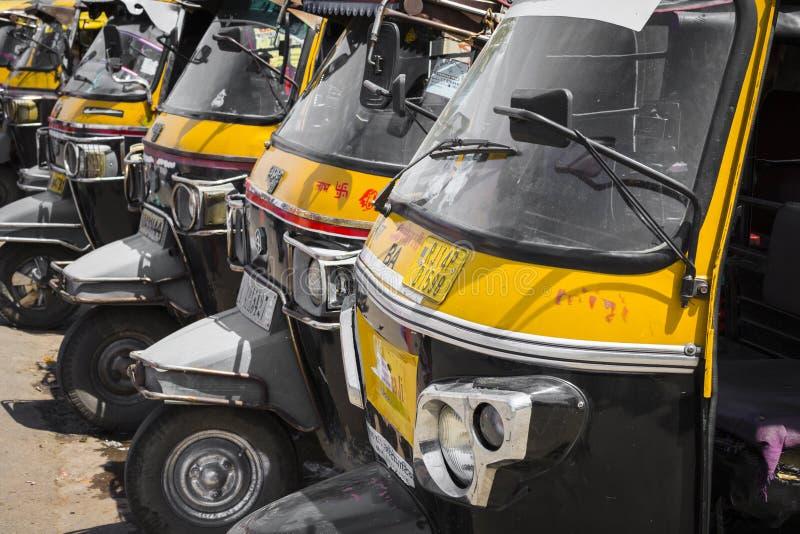 JAIPUR, INDIA - SEPTEMBER 18, 2017: Auto rickshaws or royalty free stock photography