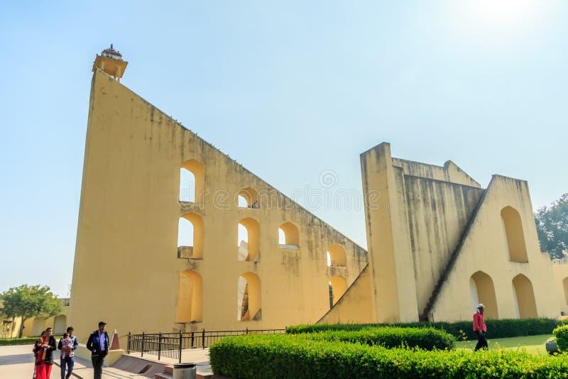 Samrat Yantra at Jaipur stock photo