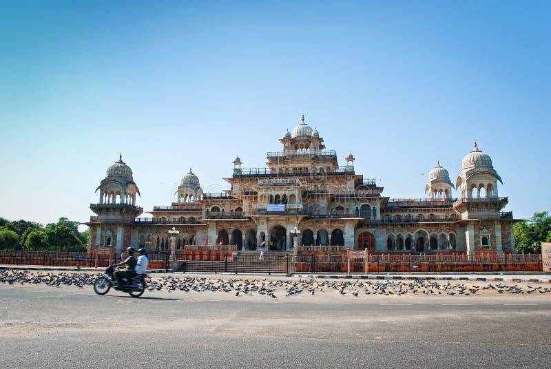 JAIPUR INDIEN - SEPTEMBER 27: Albert Hall (centralt museum) på Septembe arkivfoton