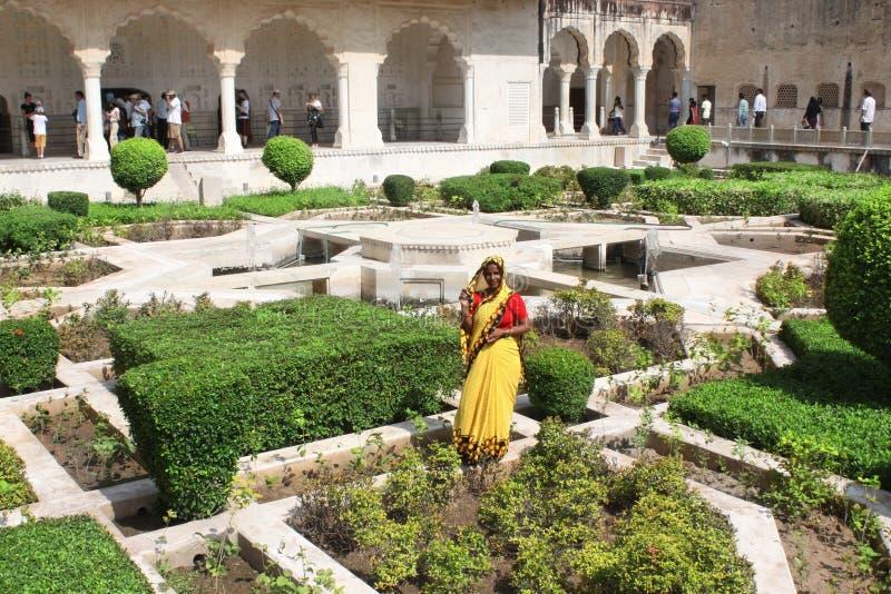 JAIPUR - LA INDIA, EL 30 DE MARZO DE 2015: Amber Fort cerca de Jaipur, la India foto de archivo libre de regalías