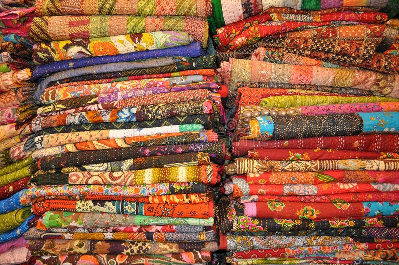 Jaipur quilts stock images