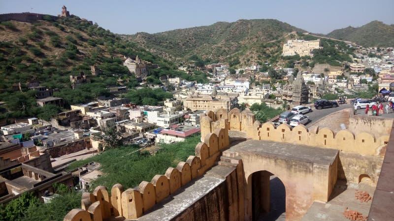 Jaipur Rajsthan ένα veiw από το ηλέκτρινο παλάτι στοκ φωτογραφία