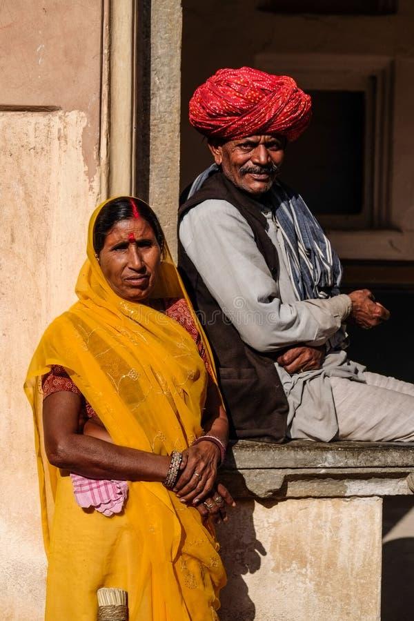 Jaipur traditionell klänning royaltyfri foto