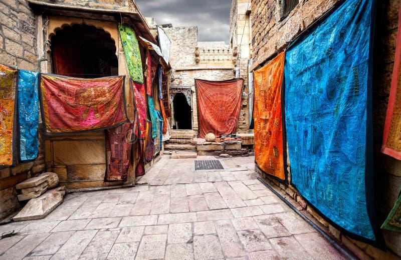 Jaisalmer堡垒街道  库存图片