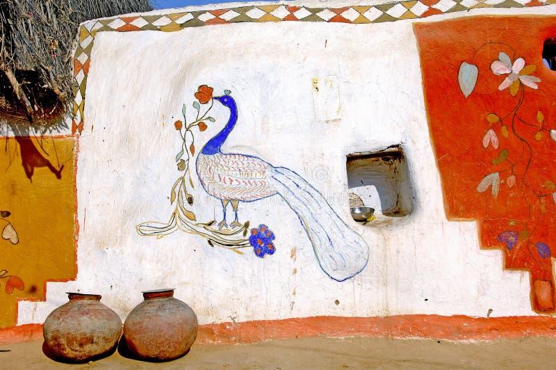 jaisalmer ściany Rajasthan indu fotografia royalty free