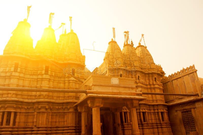 Jaisalmer fort i solnedgång royaltyfri fotografi