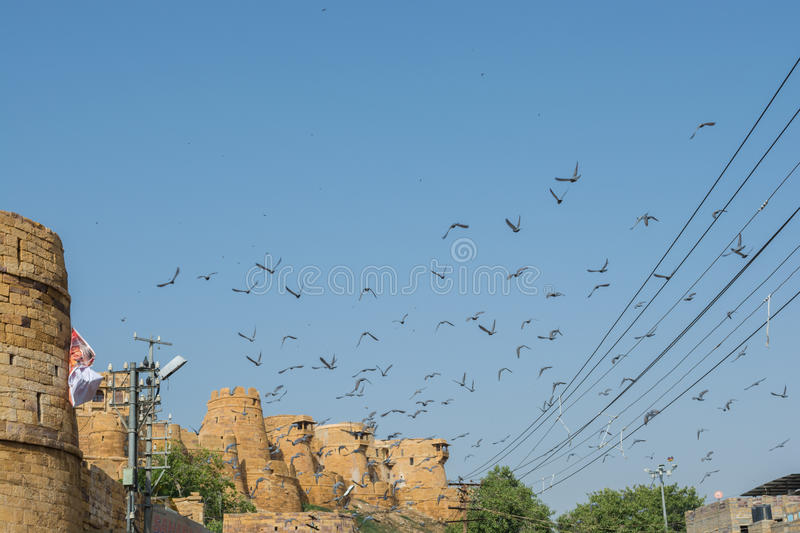 Jaisalmer fort view from outside stock images