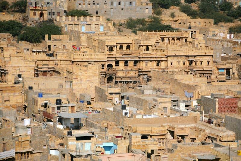Jaisalmer, goldene Stadt Indien lizenzfreie stockfotos