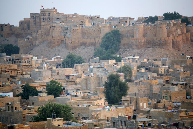 Jaisalmer, goldene Stadt Indien lizenzfreies stockfoto