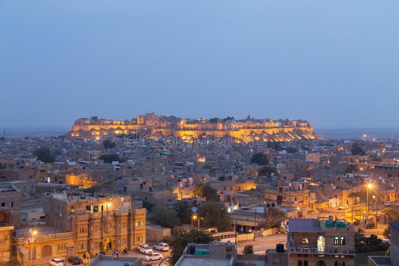 Jaisalmer stad i den Rajasthan staten, Indien royaltyfria foton