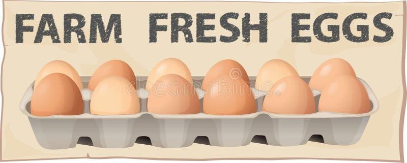 jaja świeże uprawiają ilustracji