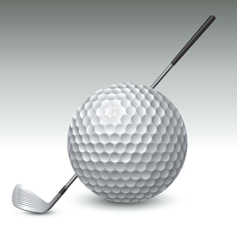 jaja ciupnięcia golf ruch żelaza royalty ilustracja