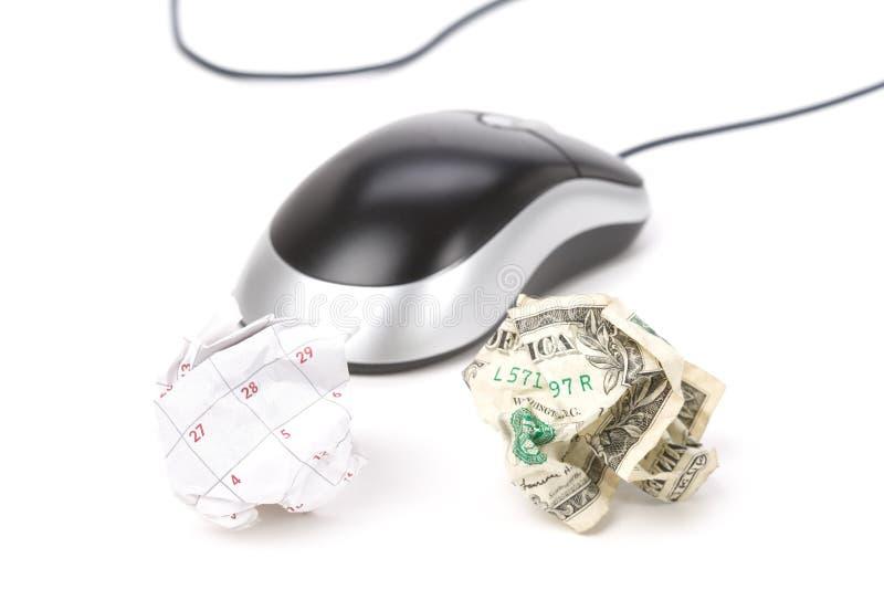 jaja kalendarzowego myszy komputerowy papieru obrazy stock