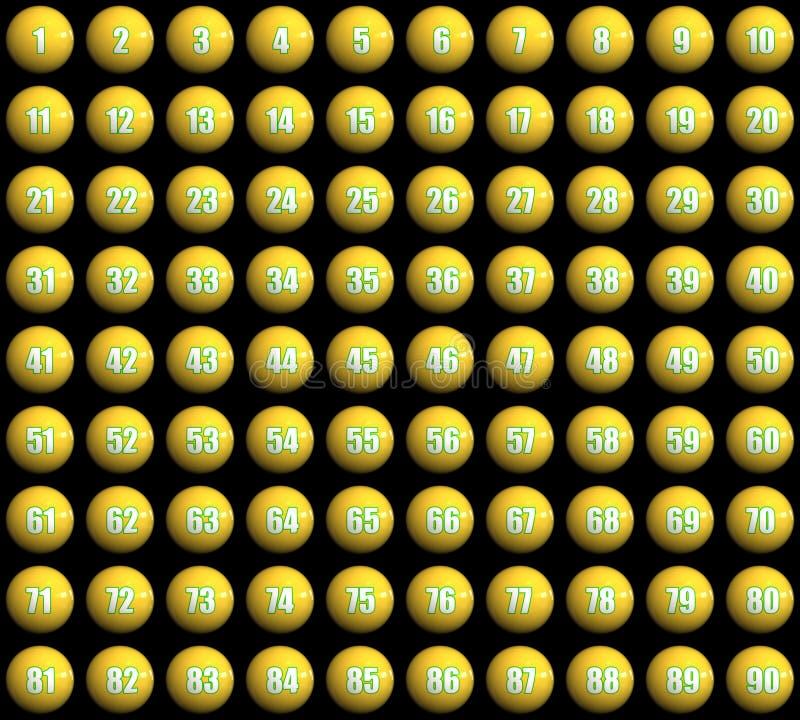 jaja loteryjne royalty ilustracja