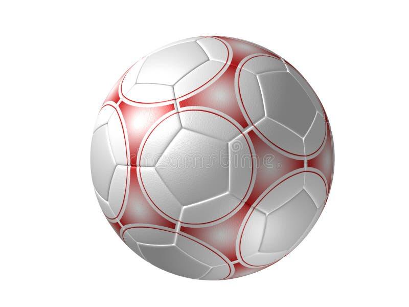 jaja odizolowana czerwona piłka nożna ilustracji