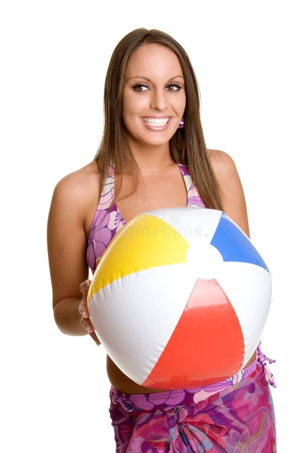 jaja plażowa dziewczyna zdjęcia stock