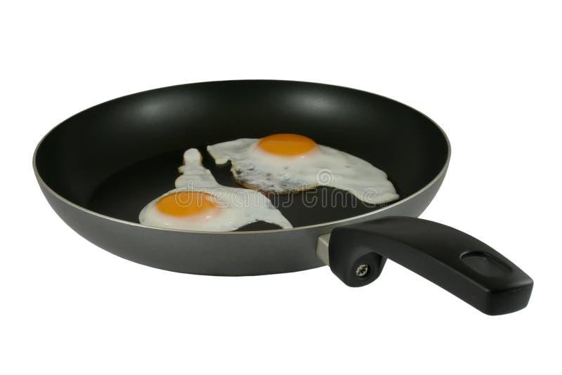 jaja smażyli drogę zdjęcia stock