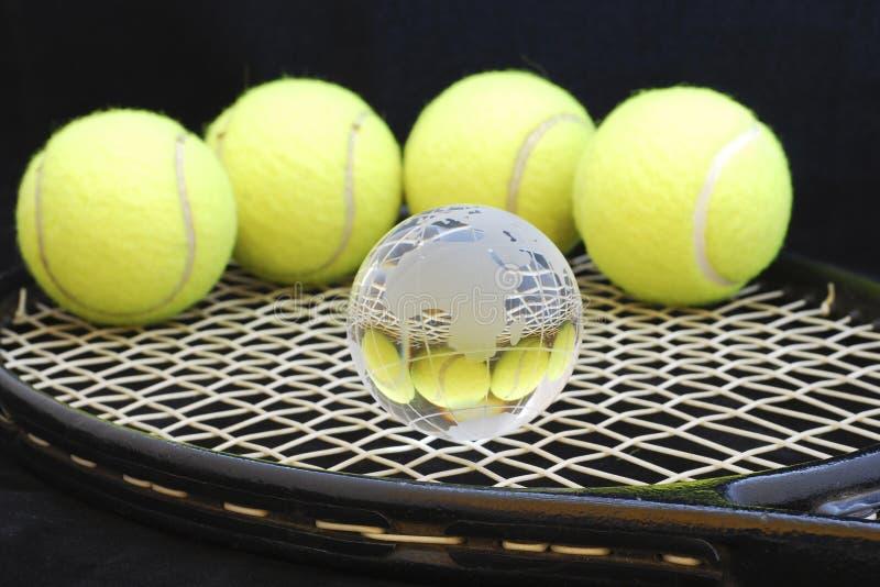 jaja z globe tenis obraz stock