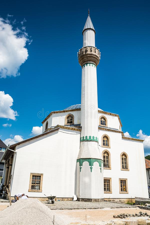 Jajce, Bosnia and Herzegovina - July 16, 2019. Esma Sultana Mosque.  royalty free stock images