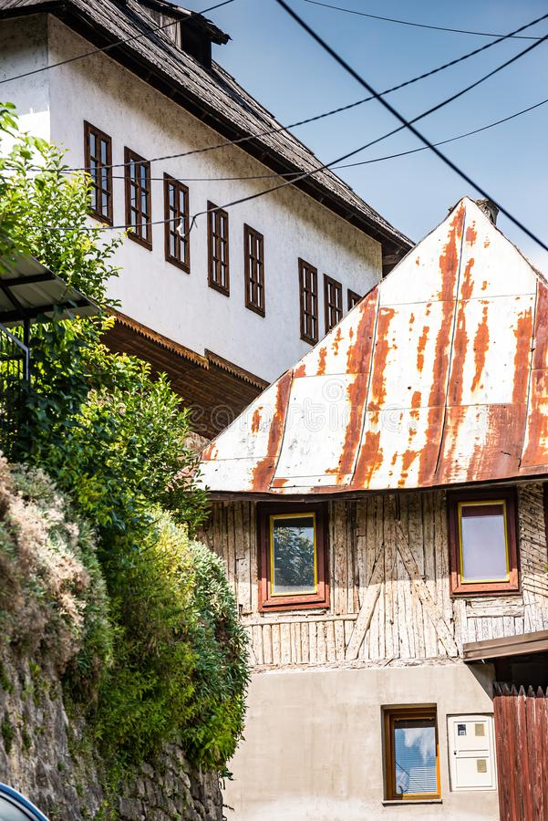 Jajce, Bosnia and Herzegovina - July 16, 2019. Traditional architecture.  stock photos
