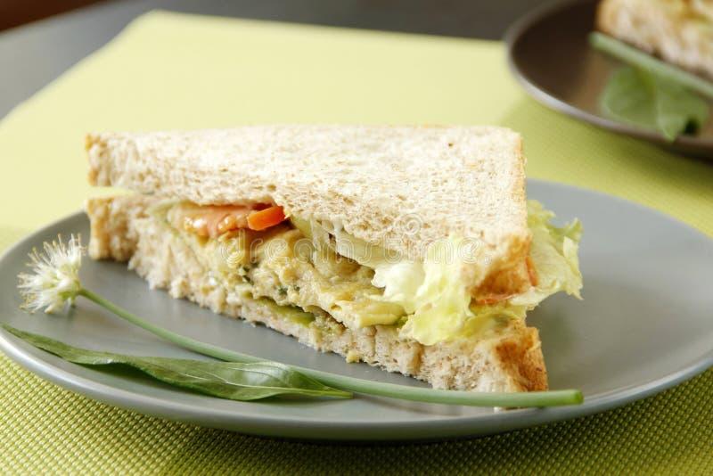 Jajeczna kanapka fotografia stock