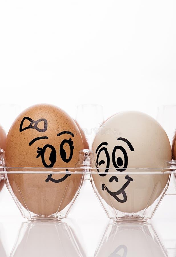 Jajeczna para obrazy stock
