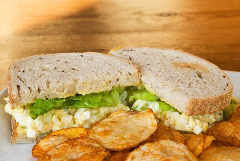 jajeczna sałatkowa kanapka obrazy royalty free