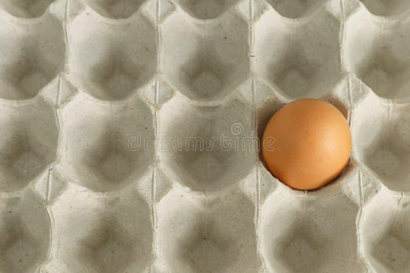 Jajeczna skorupa uruchamiająca korbą na zbiorniku obrazy royalty free