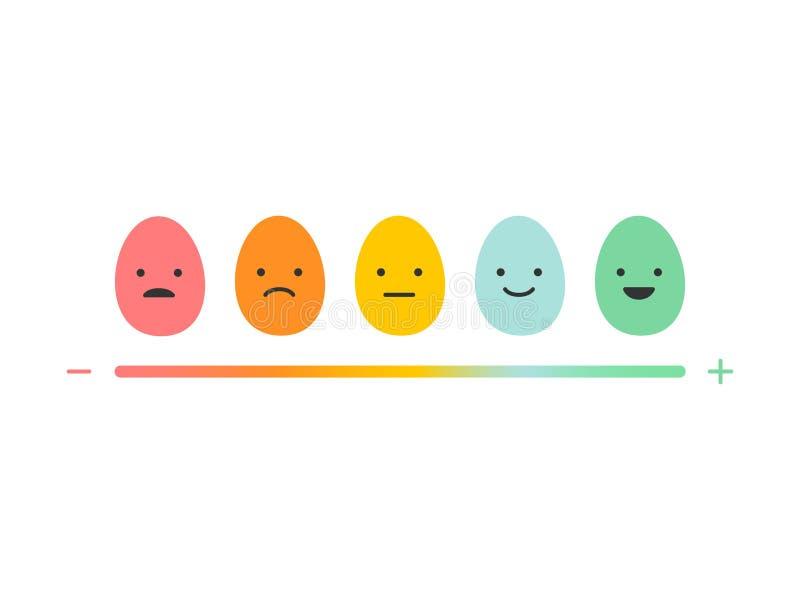 Jajeczne emocje, wektorowa ilustracja ilustracji