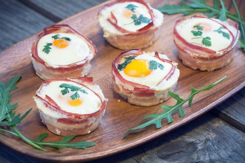 Jajeczni Muffins zdjęcia stock