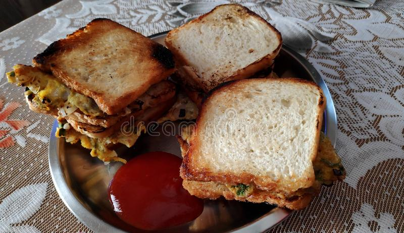 Jajeczny chleb zdjęcie royalty free