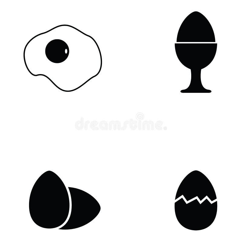 Jajeczny ikona set royalty ilustracja