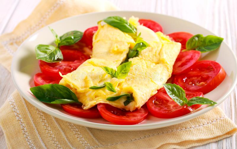 jajeczny omlet gramolił się fotografia royalty free