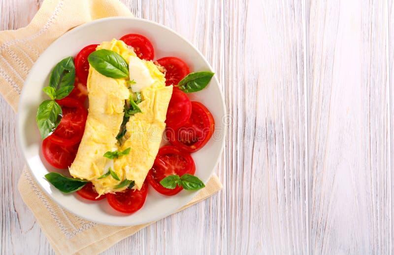 jajeczny omlet gramolił się zdjęcie stock