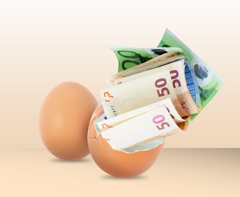 jajeczny pieniądze zdjęcie stock