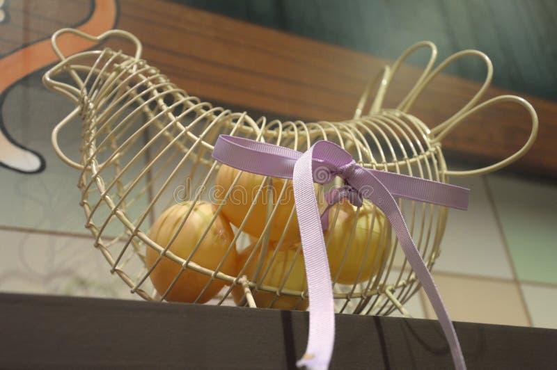 Jajeczny właściciel robić drutem obraz stock
