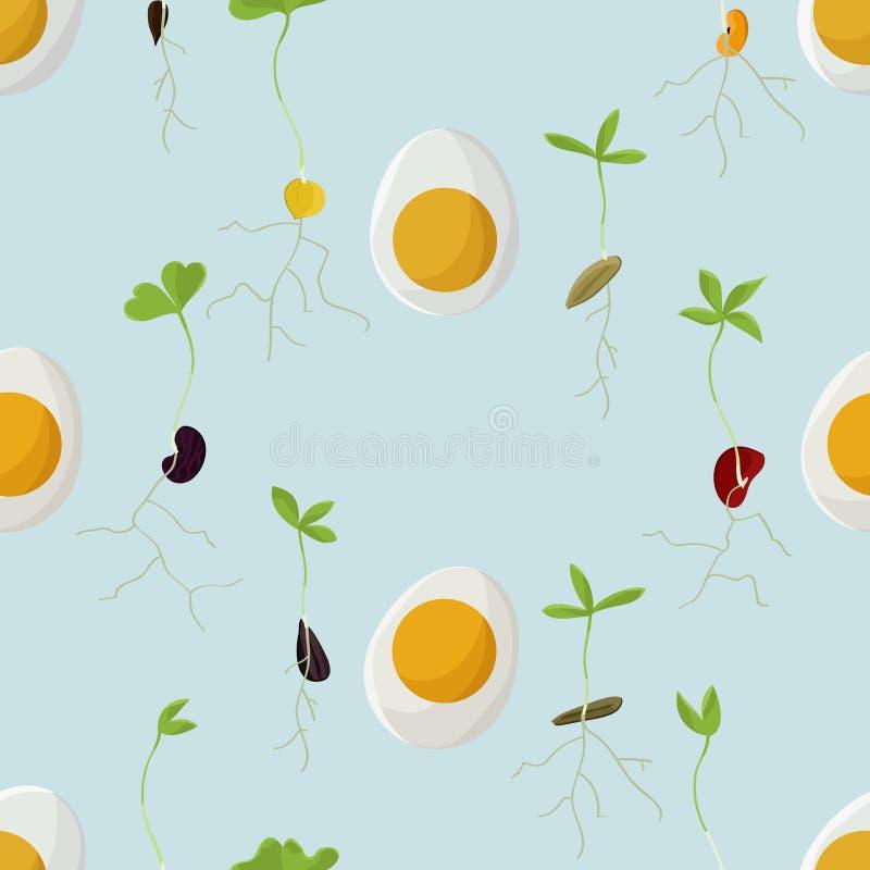 Jajek i flanc tło royalty ilustracja