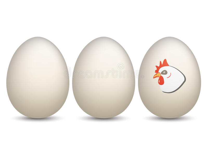 3 jajek kurczak royalty ilustracja