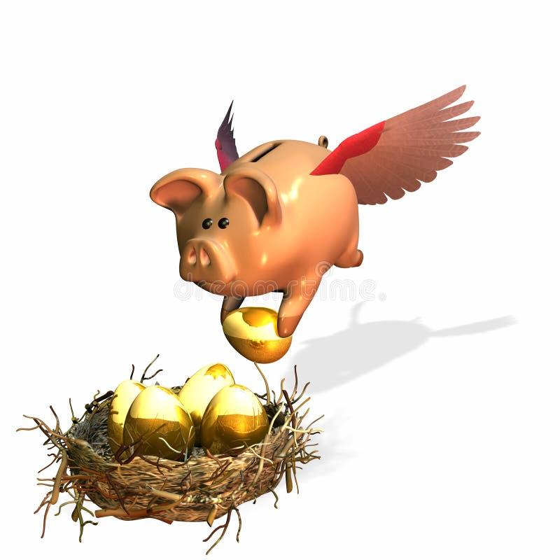 jajka 2 gniazdo ilustracji