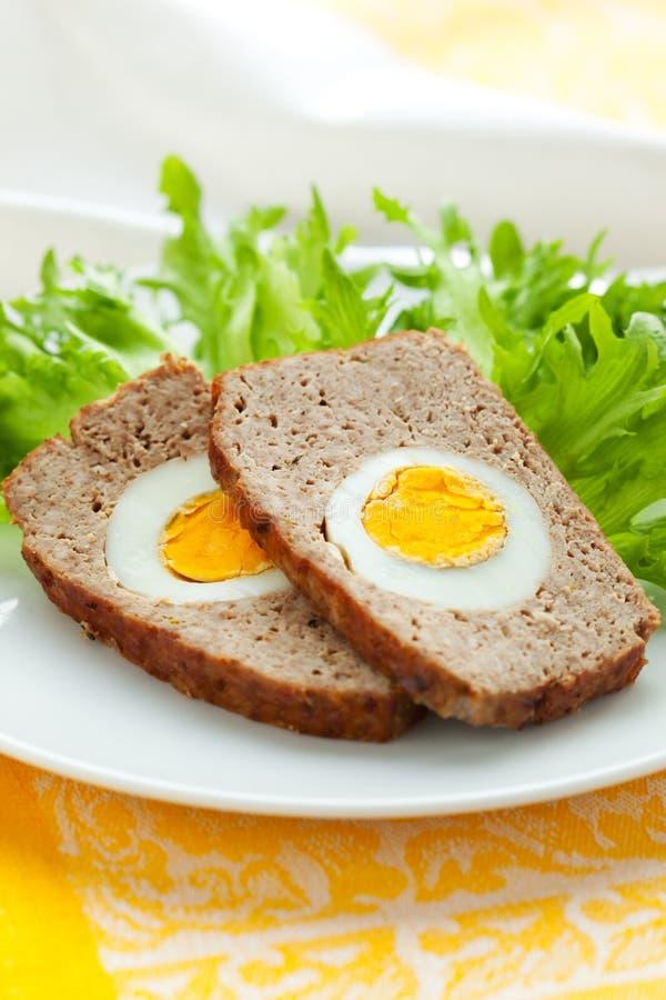 jajka gotowany meatloaf zdjęcia stock