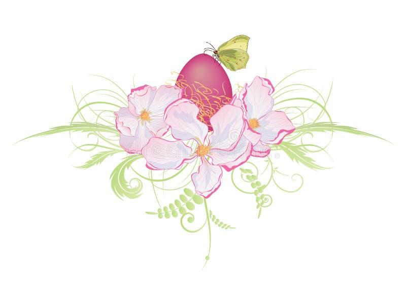 Jajka i jabłka kwiaty royalty ilustracja