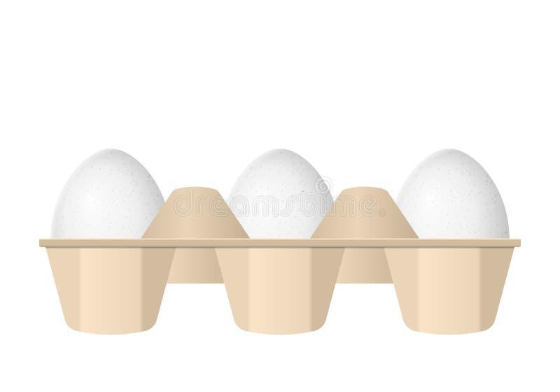 Jajka w kartonu pude?ku ilustracja wektor