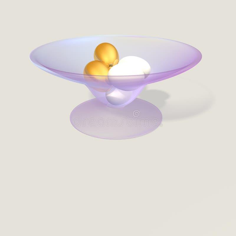 Jajka w pucharze royalty ilustracja