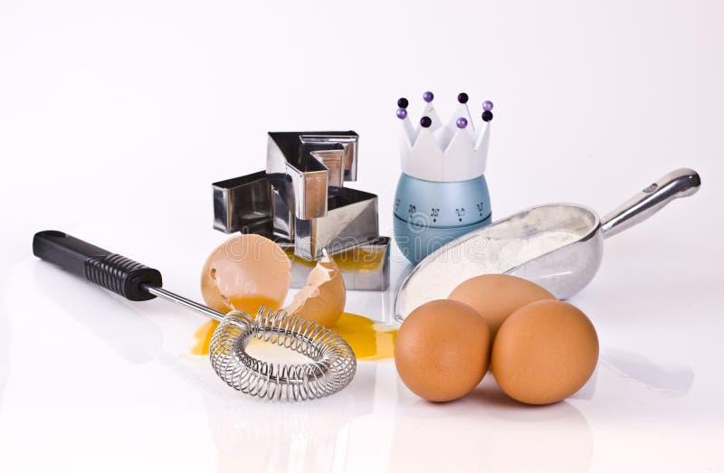 Download Jajko kulinarna mąka obraz stock. Obraz złożonej z piec - 13337703