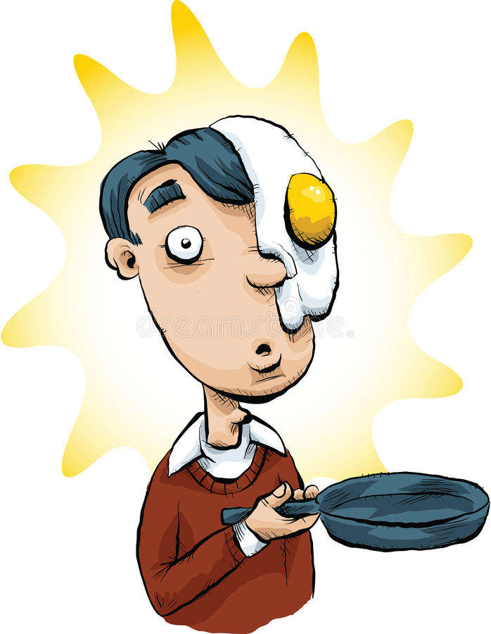 Jajko na jego twarzy ilustracji