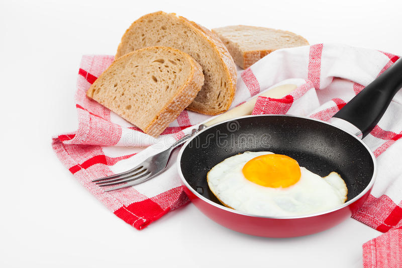 jajko smażył target1071_0_ nieckę obrazy stock